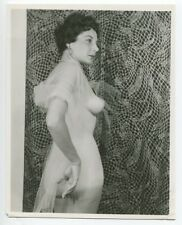 Mature Woman Perfect Pointy Nipples 1950 Original Nude Pinup Photo  B6029