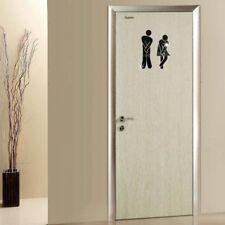 DIY Removable Toilet Bathroom WC Signs Door Accessories Wall Sticker Home Decor