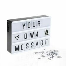Led Night Light Box Letters Symbol Cards Lamps Message Board Usb Aa Decorations