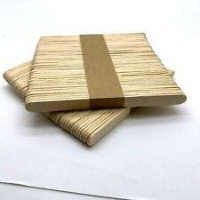 Natural Wooden Lolly Sticks Grade A 114x10x2mm Crafty