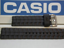 Casio Watch Band EF-550 20mm Black Resin Edifice Watchband.Two-Piece Strap