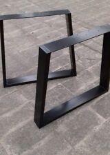 Gambe in ferro per tavoli stile industriale finitura ferro nero