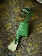 RARE Vintage HERMES Bag Purse Handbag ACCESSORY Green Leather Silver tag CUTE!