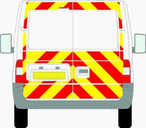 FORD TRANSIT 2006-2014 H1 VAN 3/4 PRISMATIC CHEVRON KIT CHAPTER 8 REFLECTIVE