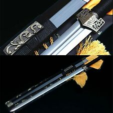 "42"" BLACK SAYA 1060 CARBON STEEL SHARP CHINESE HAN SWORD 汉剑"