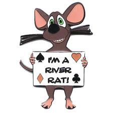 I'M A RIVER RAT Poker Card Guard Hand Protector NEW