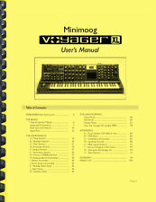Moog Minimoog Voyager XL Keyboard Synthesizer OWNER'S MANUAL