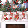 Christmas Stocking Sock Santa Claus Candy Gift Bag Xmas Tree Hanging Decor KU