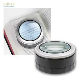 Magnifying Glass With Lighting, Ø 94 MM, Reading Help LED Light, Glass+Case