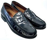Johnston Murphy Pannell Penny Loafer Men's 9 M Black Leather Slip On Dress Shoes