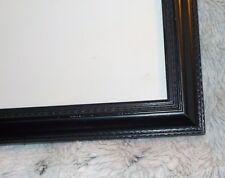 "Custom made embossed black frame, 14 1/2"" x 17 1/2"", reg clear glass, flex tabs"