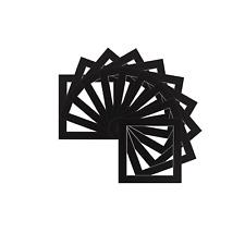 Paquete de 5 Negro Instagram Cuadrado Imagen Foto Mounts / Marcos Varios Tamaños