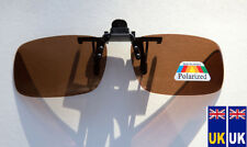 New high quality Polarised Polarized Sunglasses Flip-Up Clip-On   Brown Medium