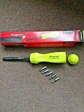 snap on ratcheting screwdriver yellow handle hi viz with black shaft new boxed