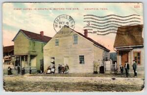 1910 MEMPHIS TENNESSEE*TN*FIRST HOTEL BEFORE THE WAR*ANTIQUE KRESS POSTCARD
