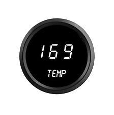 LED Digital WATER TEMPERATURE GAUGE W/ Sender WHITE LEDs BLACK Bezel Dash Auto !