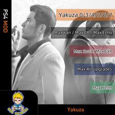 Yakuza 0/3/4/5/6/7 (PS Mod)-Max Yan/CP/HP/Echo/Soul/EXP/All Upgrades