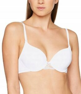 Triumph Lovely Micro WHPM Wired Padded T-Shirt Bra White EU 75C NEW