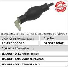 8200218942 Fuel Hand Primer Pump for Renault - Opel (AC Valve Inside)