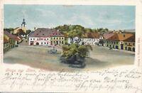Nr13752 PK Litho Gruss aus Bärn Moravský Beroun 1904 Mähren Tschechien