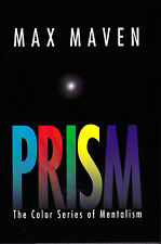 Prism-The Color Series of Mentalism by Max Maven Magic-Mindreading-Hypnosi s-Mint