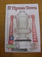15/08/2015 Tipton Town v Cadbury Athletic [FA Cup] . Footy Progs/Bobfrankandelvi