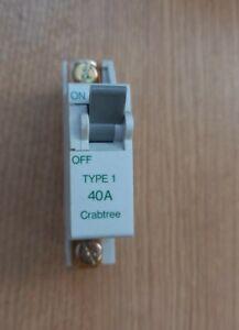 Crabtree SB6000 610/40 M6 40A 40 Amp MCB Miniature Circuit Breaker Type 1