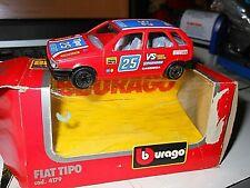 BURAGO BBURAGO 4179 ITALIA FIAT TIPO #25 ROSSO RALLY 1:43 DIECAST PRESSOFUSO