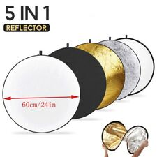 """24"""" 60cm Photography Studio 5 in 1 Multi Photo Disc Collapsible Light Reflector"""