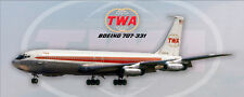 TWA Airlines Boeing 707-331 Handmade Photo Magnet (PMT1677)