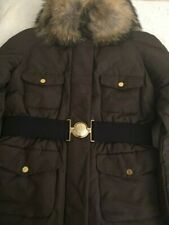 New 100% Authentic Moncler Women Down Coat Brown Size 5 Extra Large