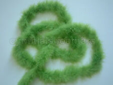 Lime Green 75 Grams Marabou Father Boa Boas 10 Yards Long Crafting Sewing Trim