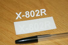 X-802R Visor Decals  (pair)