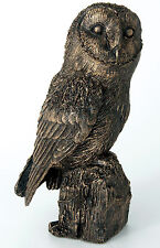 LD183  Langholm Design Owl Bronze Finish Figurine NEW in BOX  18177