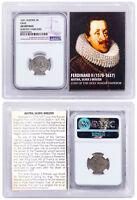 1578-1637 Medieval Austria, Silver 3 Kreuzer Ferdinand II NGC AU Vault SKU51598