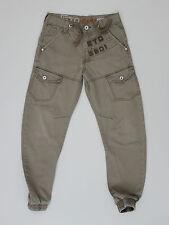 ETO 9901 mens tapered leg brown jeans size 27w short 27leg (M4017)