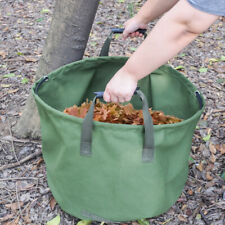 Portable Large Canvas Heavy Duty 125L Garden Leaves Waste Bags Sack with Handles