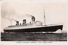 CJ16. Vintage Postcard. Cunard Steamship Company. RMS Queen Mary