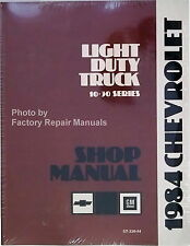 1984 Chevy Pick-up Truck Suburban Van Factory Shop Service Repair Manual Reprint