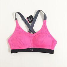 Victoria's Secret VSX Lightweight Wireless Bright  Pink Sport Bra 32DD - New