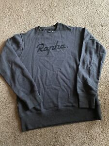 Rapha Mens Large Spellout Logo Essential Sweatshirt pullover Grey