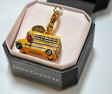 JUICY COUTURE Yellow Gold School Bus Bracelet Charm Limited Edition New