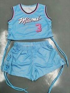 Miami Heat Retro   Jersey Short Set