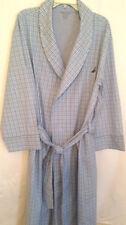 Robe Nautica mens size L/XL cotton new tie belt shawl collar pockets plaid