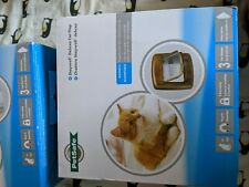 PetSafe 400EF Magnetic 4-Way Locking Cat Flap, brown (brand new in box)