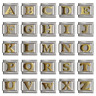 Letters Italian Charm (gold plated)  fits 9mm Classic Nomination Bracelet