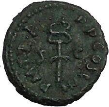 VESPASIAN 77AD Rare Quadrans Globe Caduceus Rome Ancient Roman Coin i52675