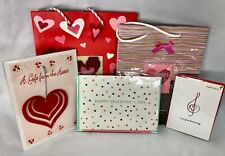Valentine's Day Items: 2 Gift Bags 1 Ornament Papyrus Card Other Card