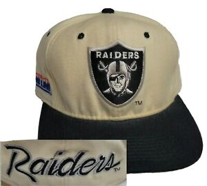 Vintage 90s Oakland Raiders Back Script Sports Specialties 7 1/2 Fitted Hat Cap
