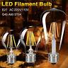 E27 COB AMPOULES LED LAMPE RÉTRO EDISON FILAMENT VERRE LUMIÈRE ÉCLAIRAGE 4-16W